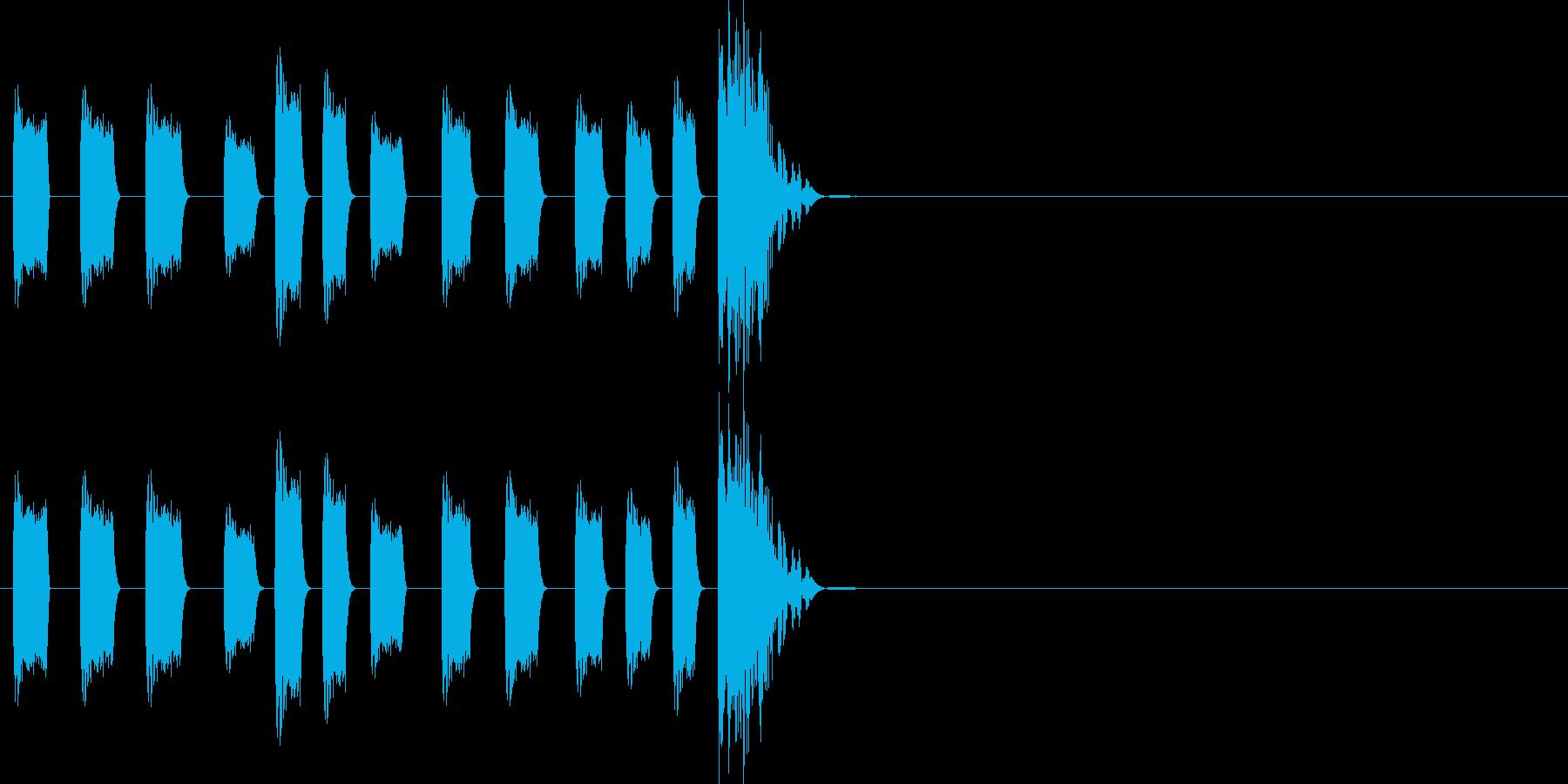 CMから明けたときのHit音ジングルの再生済みの波形