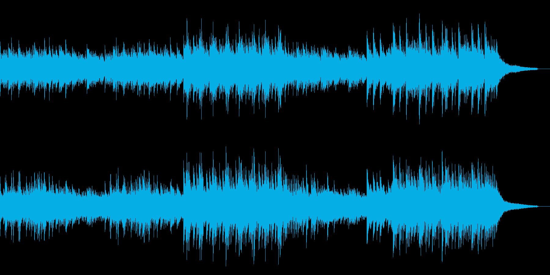 幻想的・神秘的なピアノ曲の再生済みの波形