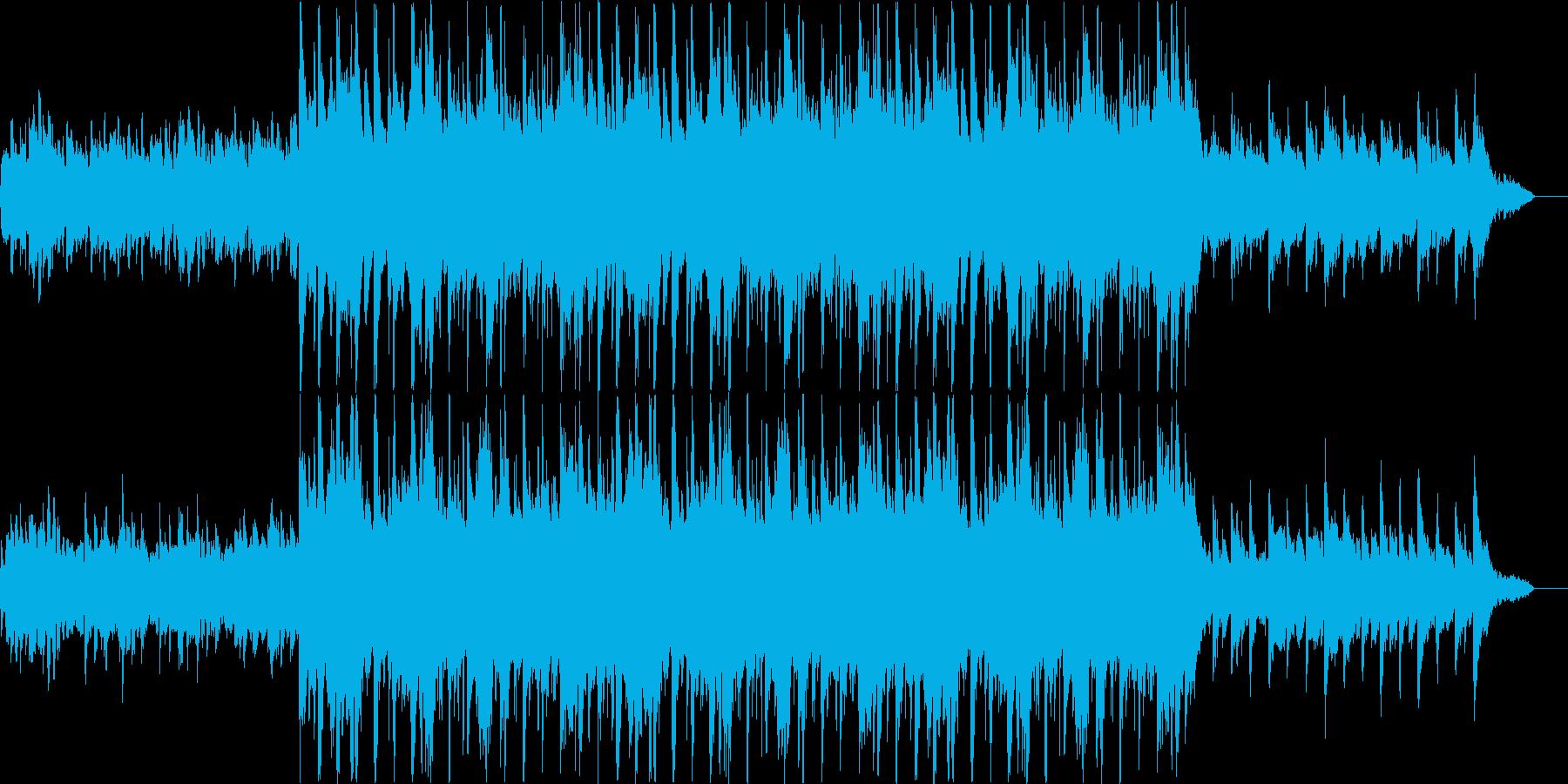 暖かいイメージのサウンドの再生済みの波形