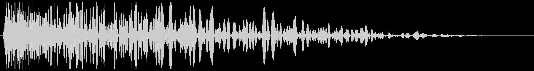 チューン(発射系の音)シンプルの未再生の波形