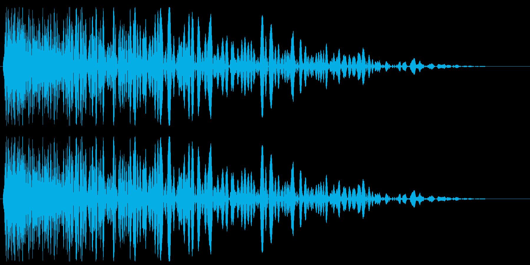 チューン(発射系の音)シンプルの再生済みの波形