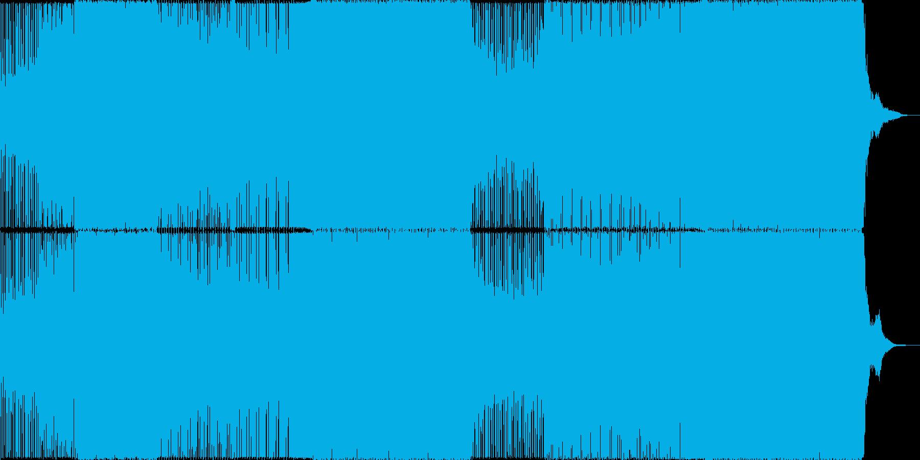 ゆったりとしたトロピカルハウスの再生済みの波形