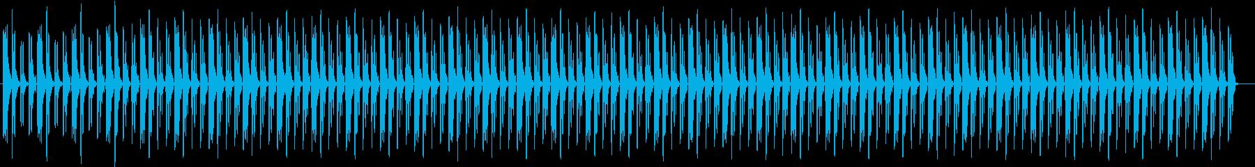 緊張感のある時計・心臓・装置などの音の再生済みの波形