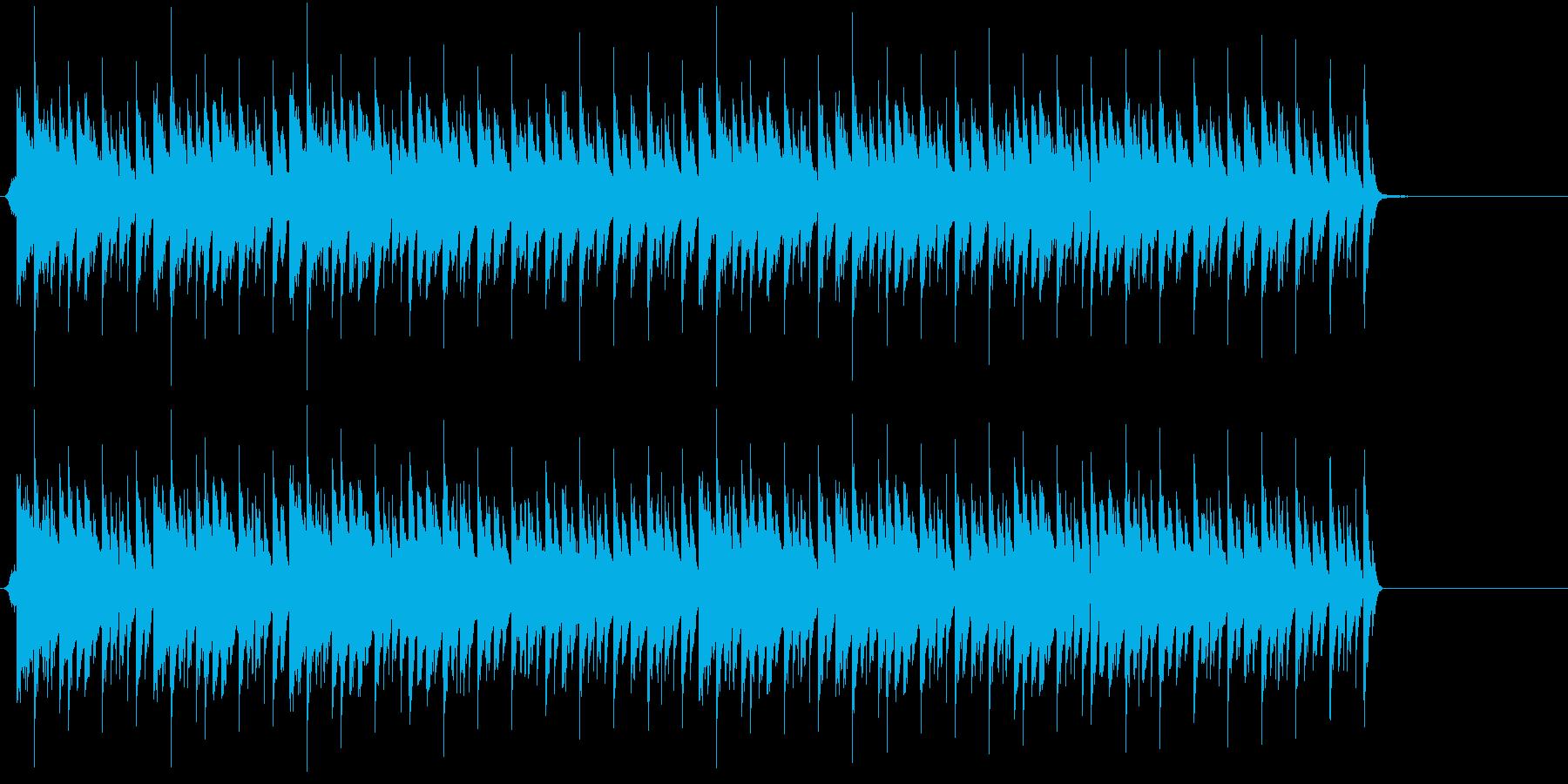 機械的なクールなBGMの再生済みの波形