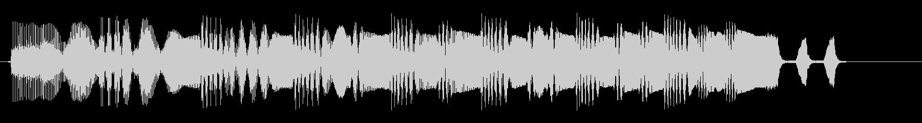 プェプェプェプェ(上がる)の未再生の波形