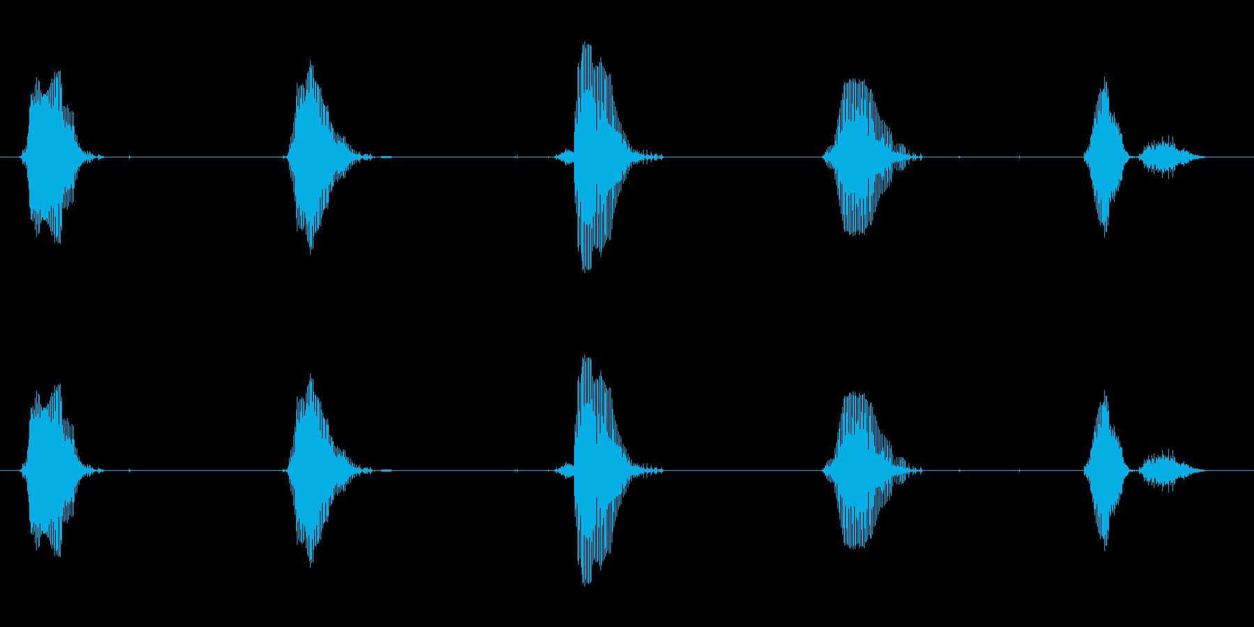 5~1までカウントダウンしたセリフです。の再生済みの波形