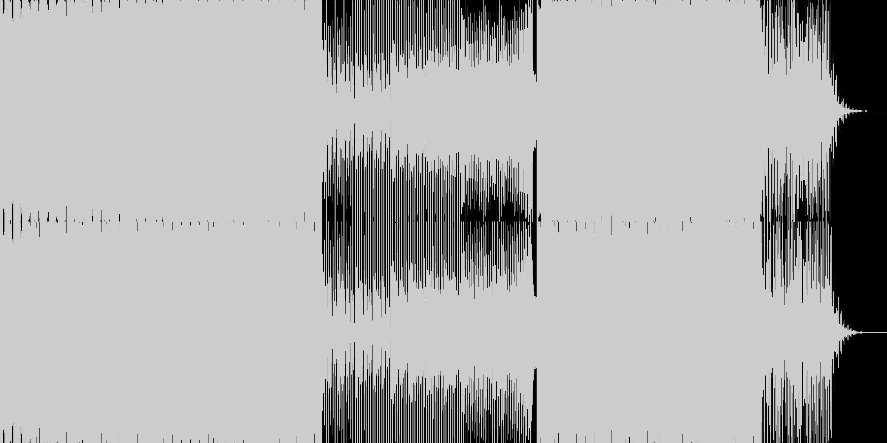 切ないエレクトロミュージック 氷ステージの未再生の波形