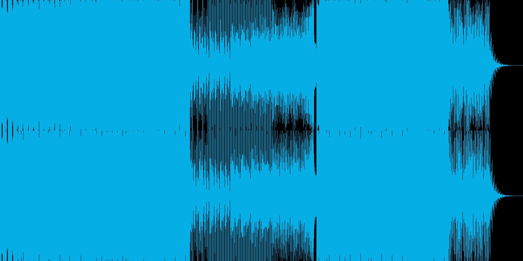 切ないエレクトロミュージック 氷ステージの再生済みの波形