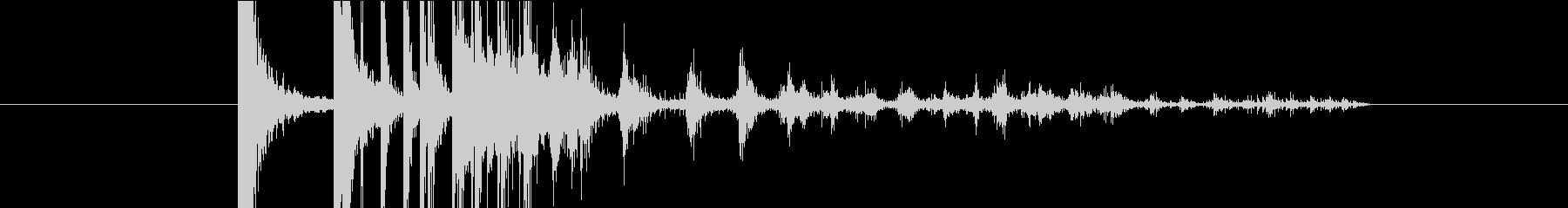 タンチャリリリーン(小銭、コイン)の未再生の波形