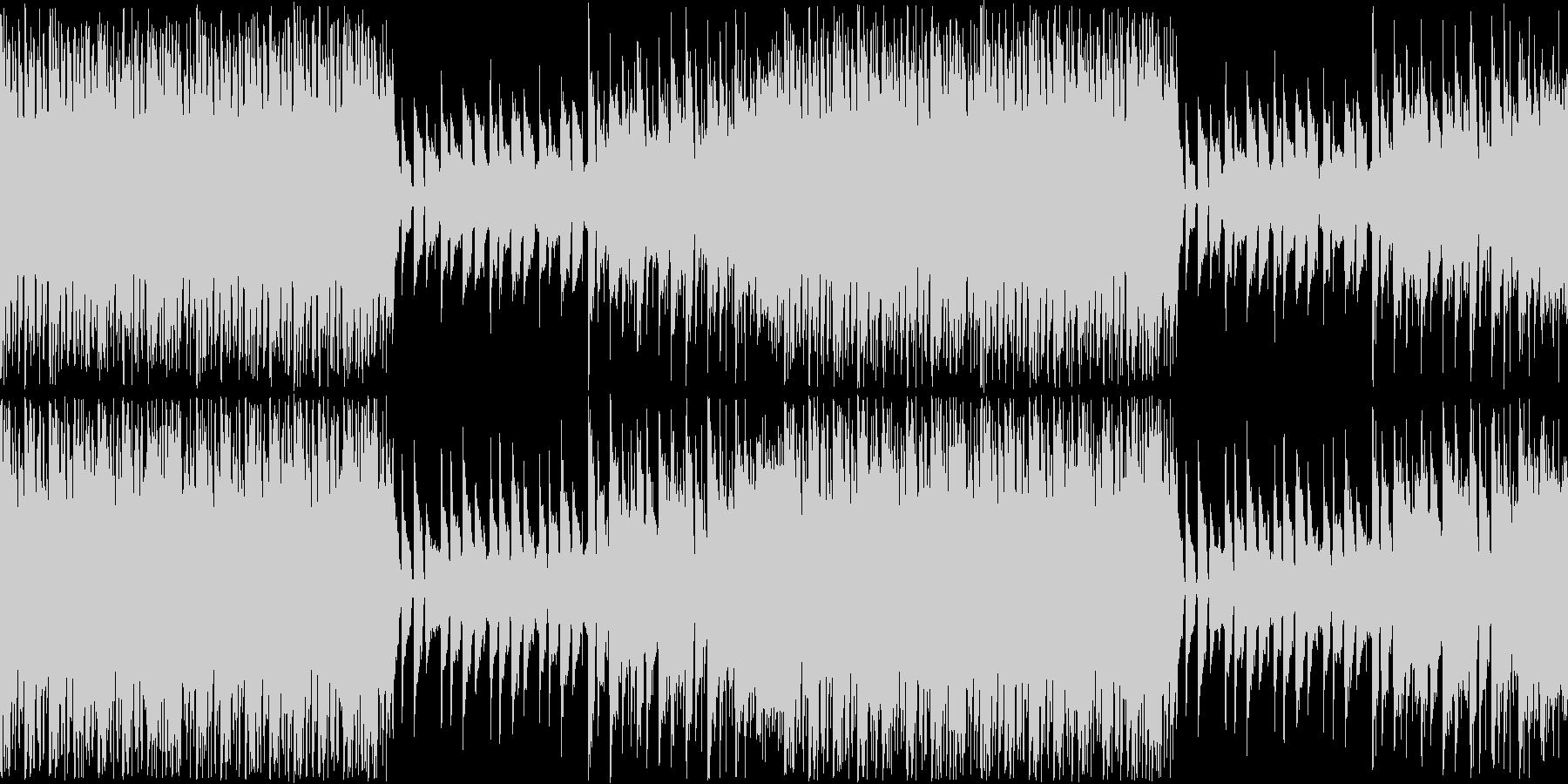 躍動感溢れる軽快なインスト楽曲ループの未再生の波形