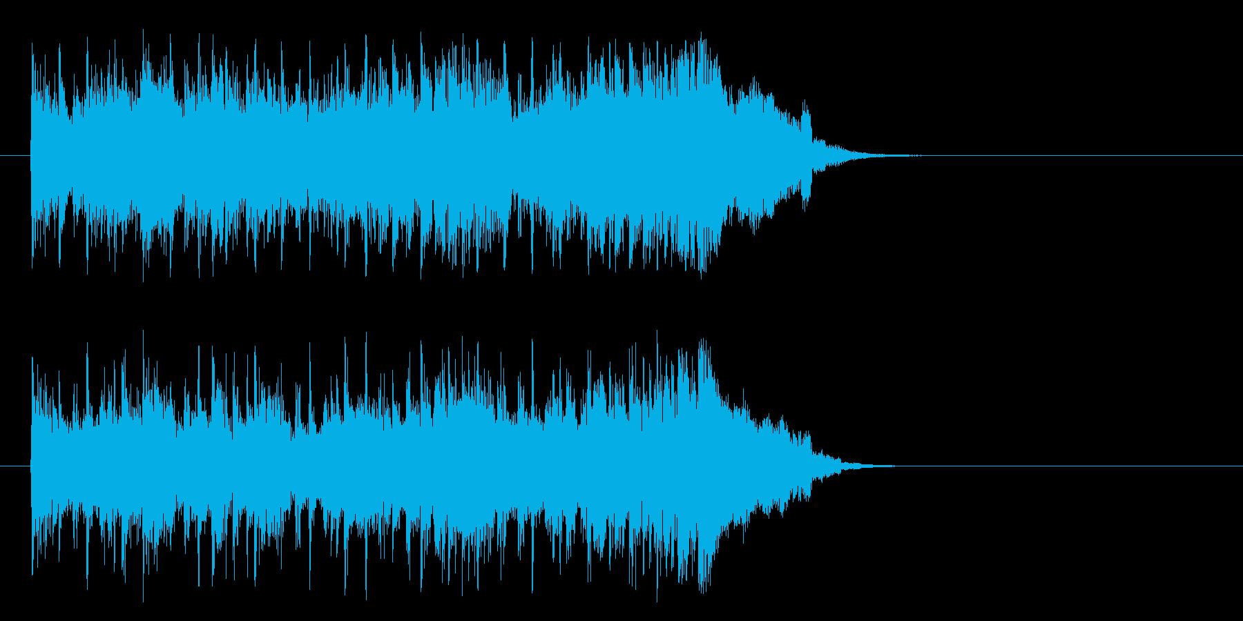 好奇心旺盛なポップ(サビ)の再生済みの波形