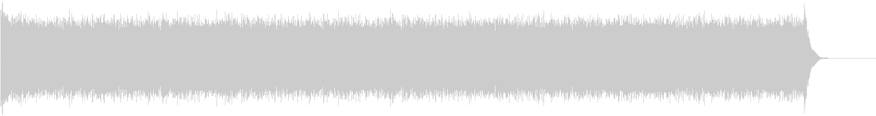 1分続くドラムロール スネアとティンパニの未再生の波形