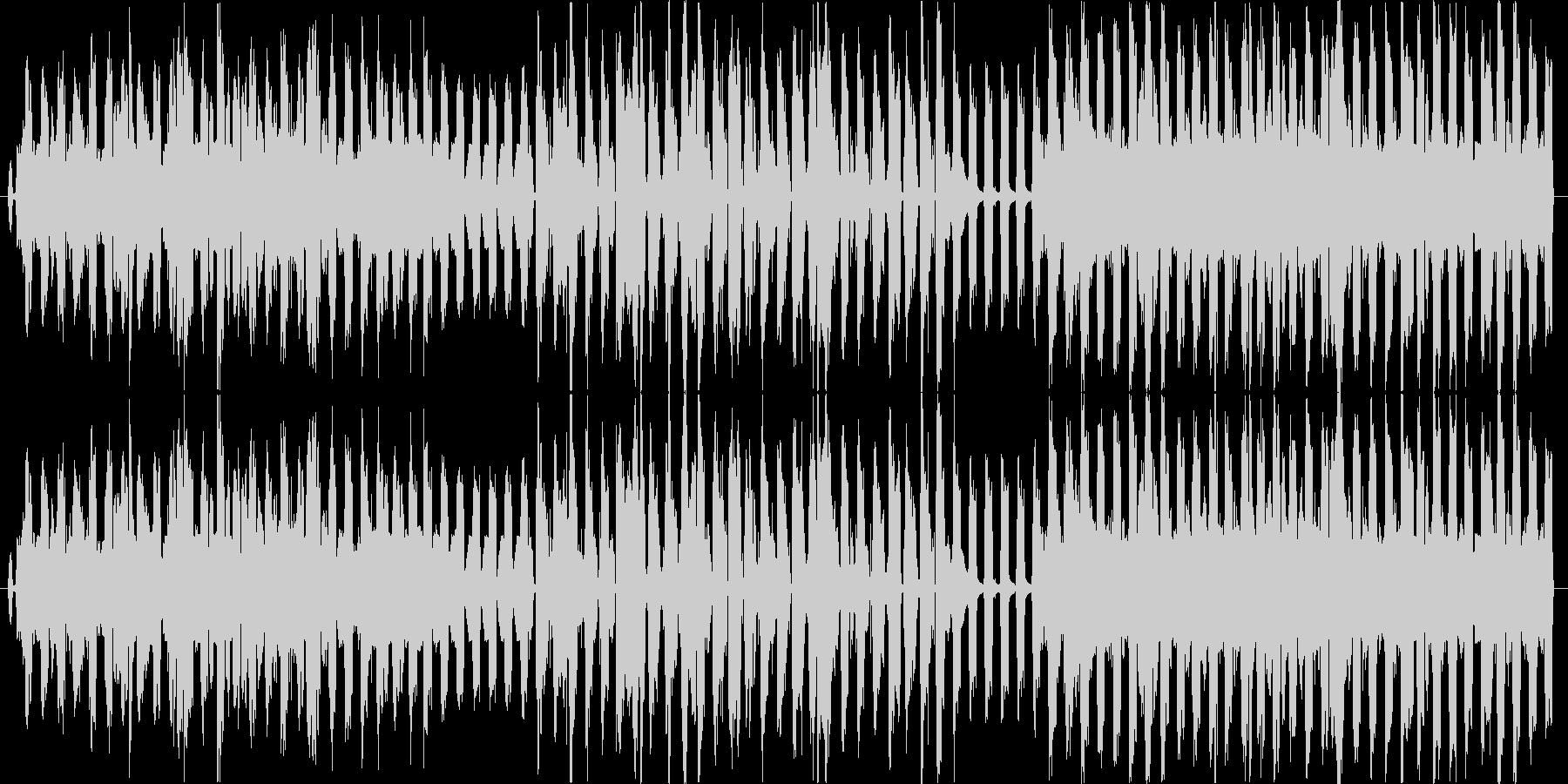 シューベルトの野ばらをカバーの未再生の波形