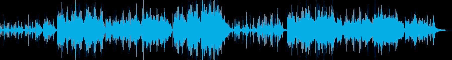 うつくしく奏でるピアノBGM/映像BGMの再生済みの波形