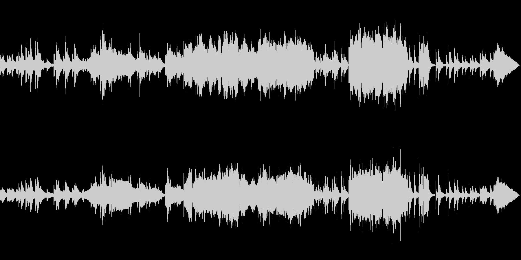 ピアノ・ヴァイオリン・チェロ三重奏の曲の未再生の波形