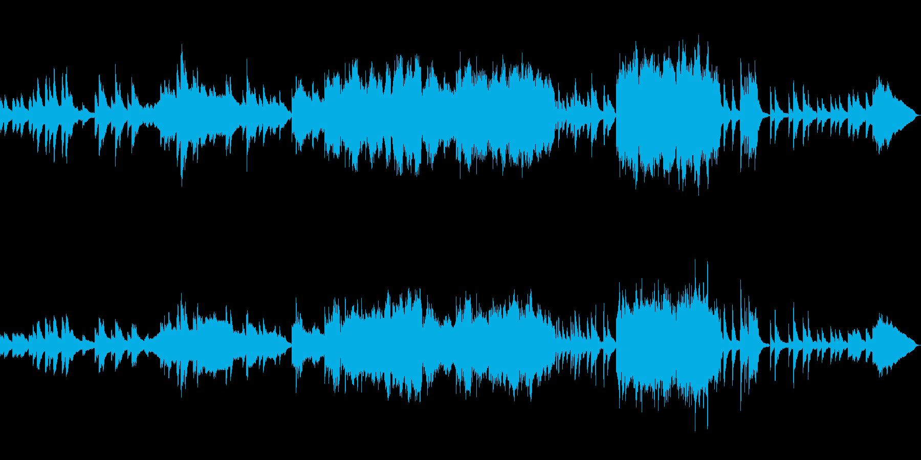 ピアノ・ヴァイオリン・チェロ三重奏の曲の再生済みの波形