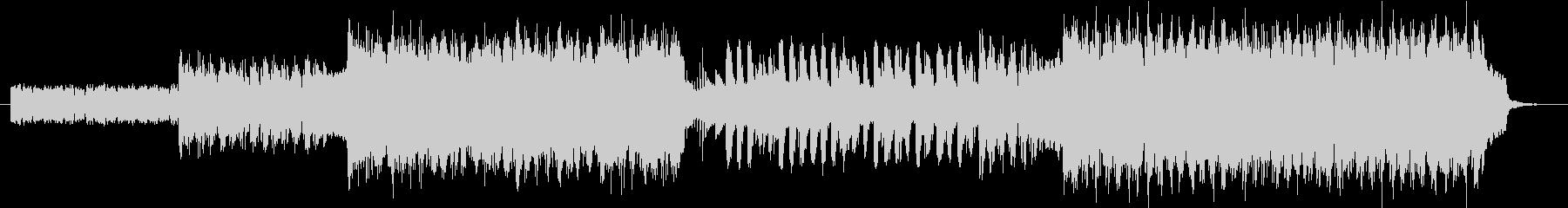 シンセと打ち込みのビートポップスの未再生の波形