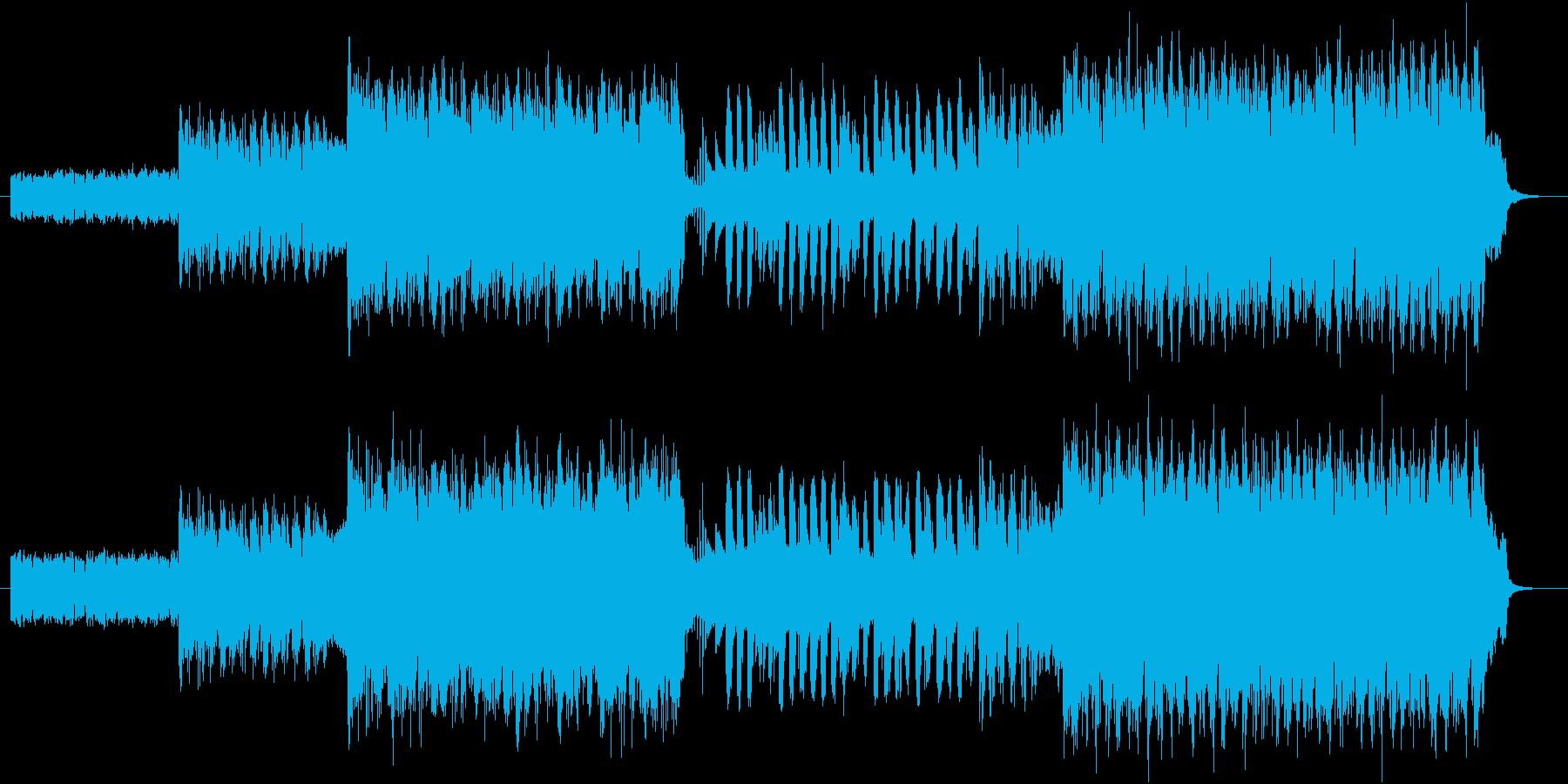 シンセと打ち込みのビートポップスの再生済みの波形