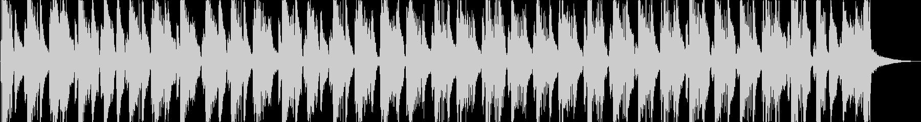 ウクレレと軽快なブラスのジングルの未再生の波形
