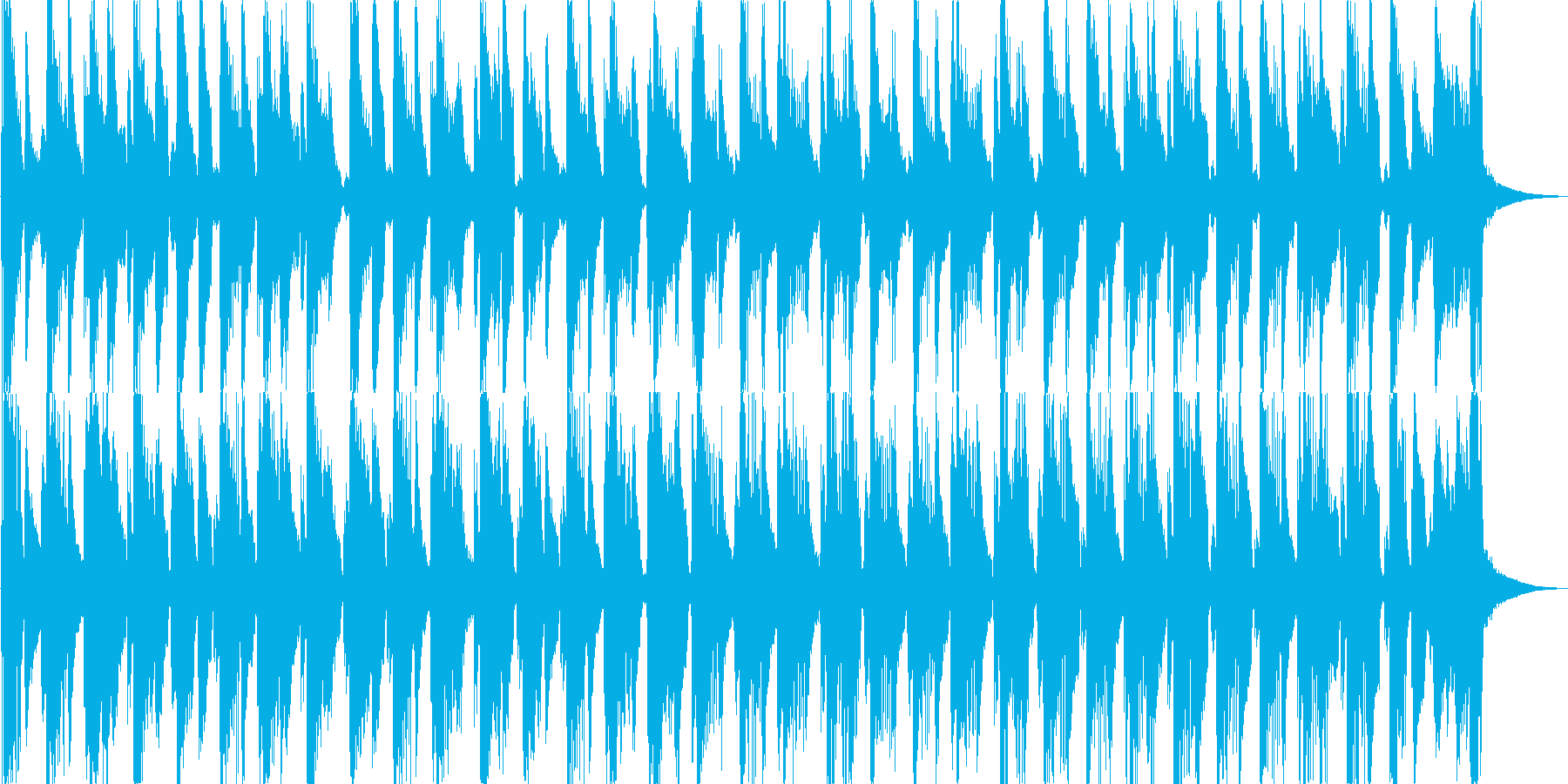 ウクレレと軽快なブラスのジングルの再生済みの波形