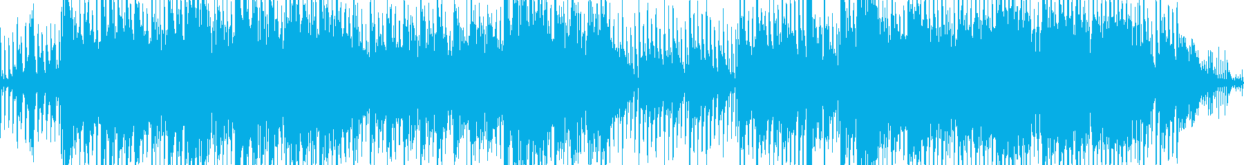 テンポの良い勇壮な曲の再生済みの波形