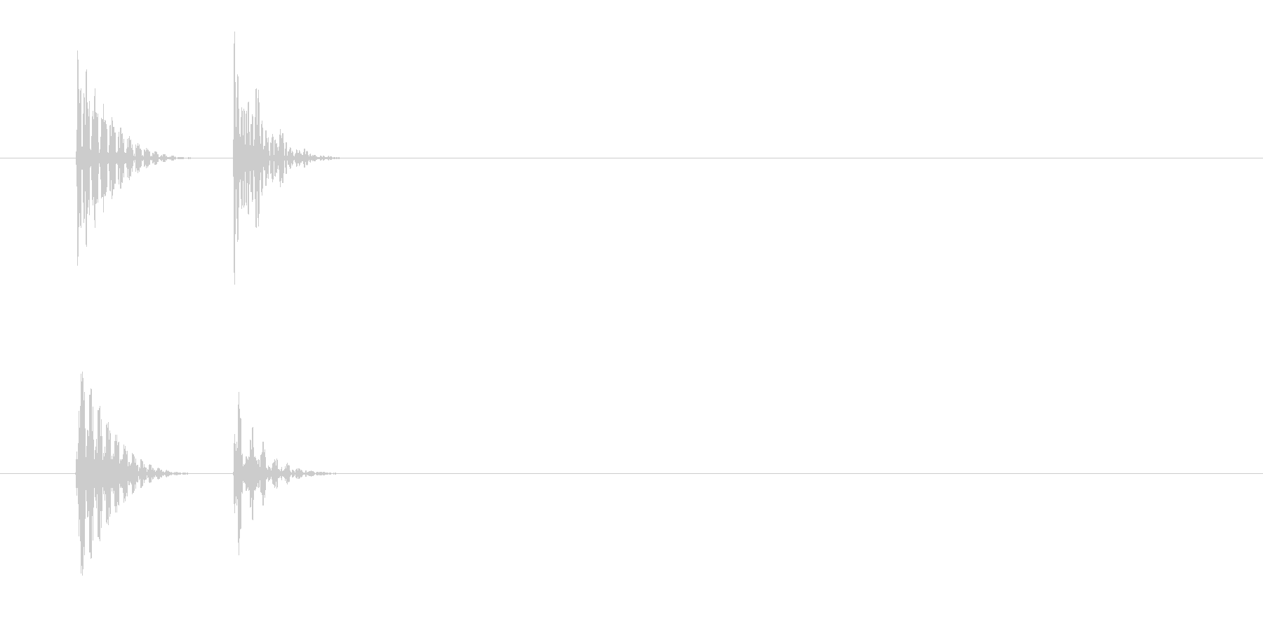 「タ↑タン↓」キャンセル音・エラー音の未再生の波形