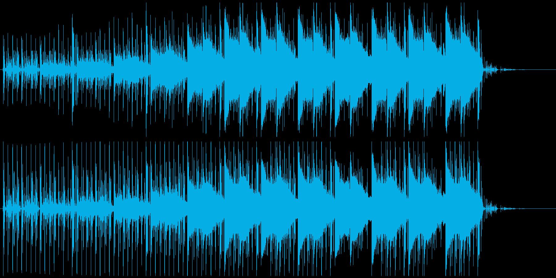 昼の森林の中を歩くイメージのBGMの再生済みの波形