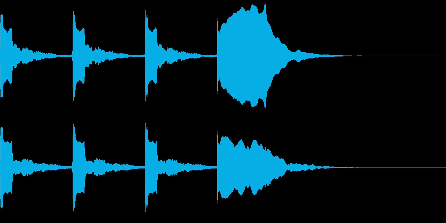 スタートカウントの再生済みの波形