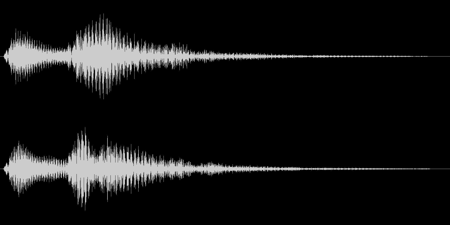 ピンポン、というお知らせ音の未再生の波形
