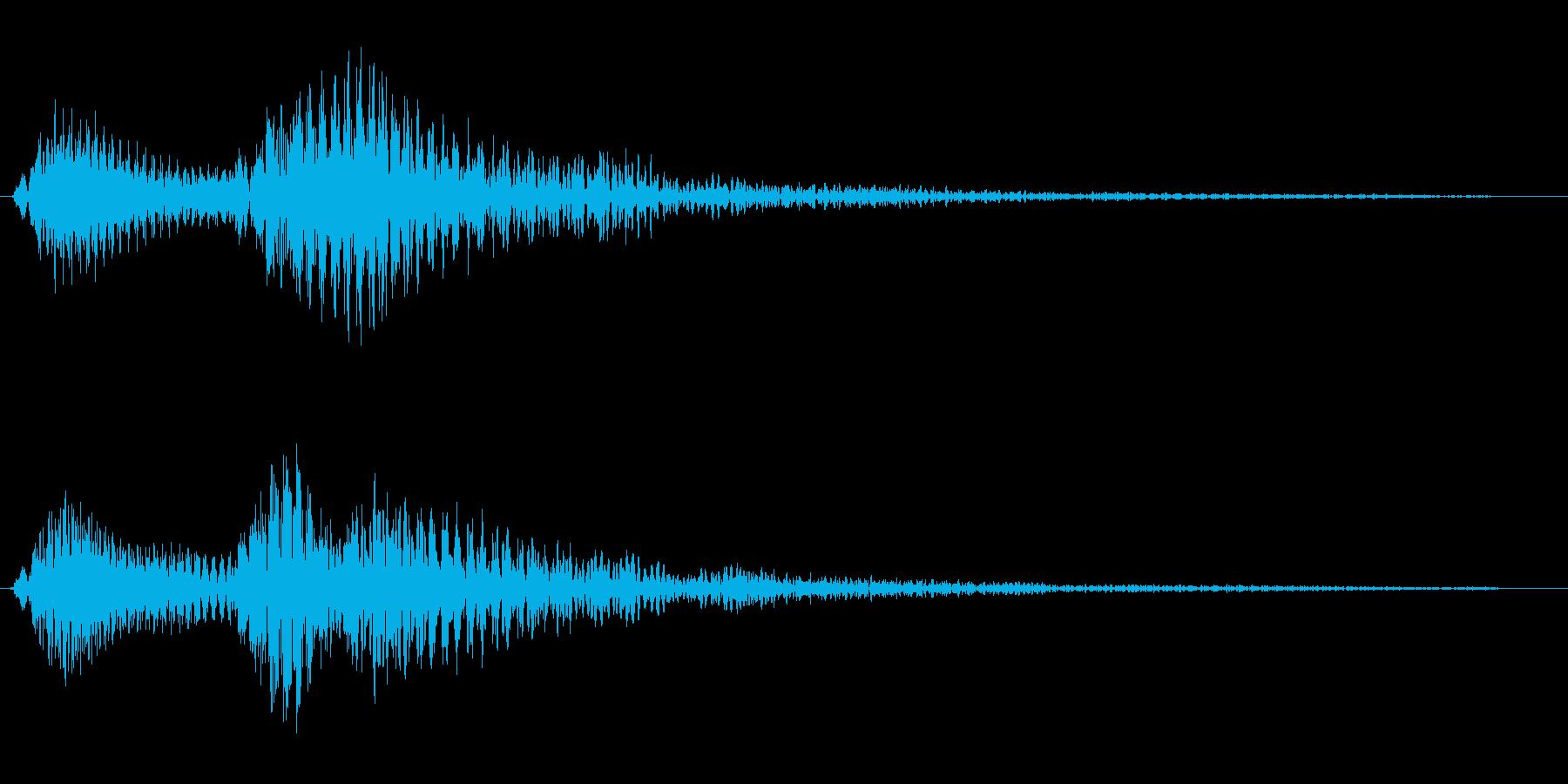 ピンポン、というお知らせ音の再生済みの波形