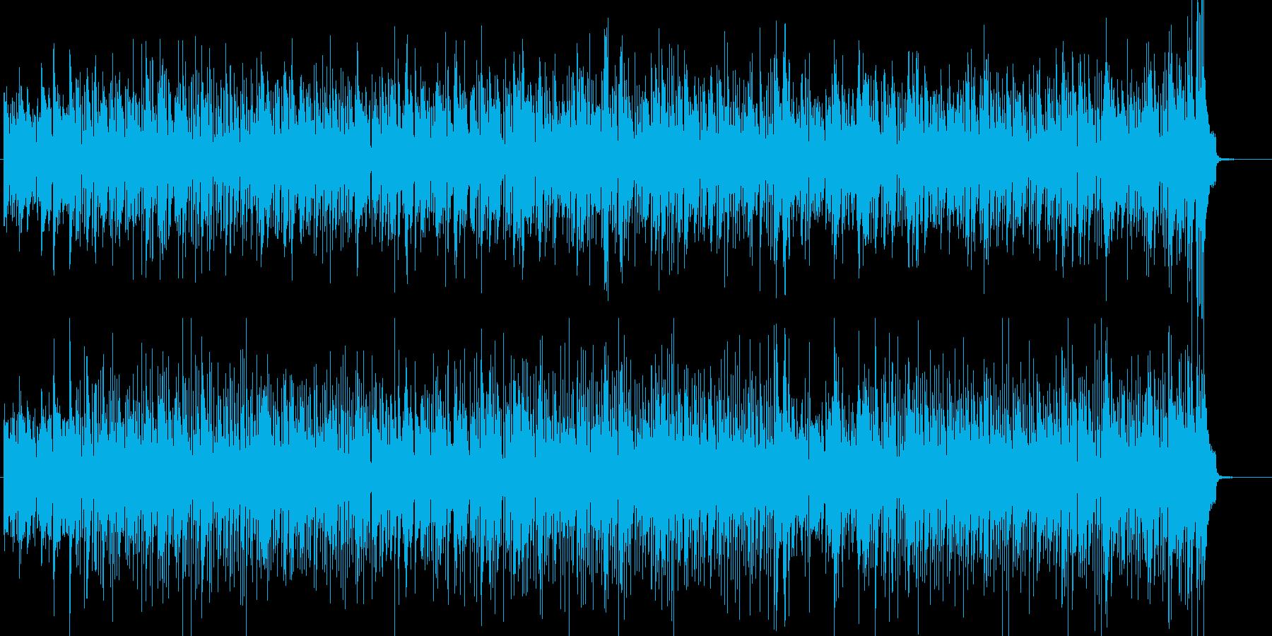 生ライブ感のあるドラムとピアノ、映像用の再生済みの波形