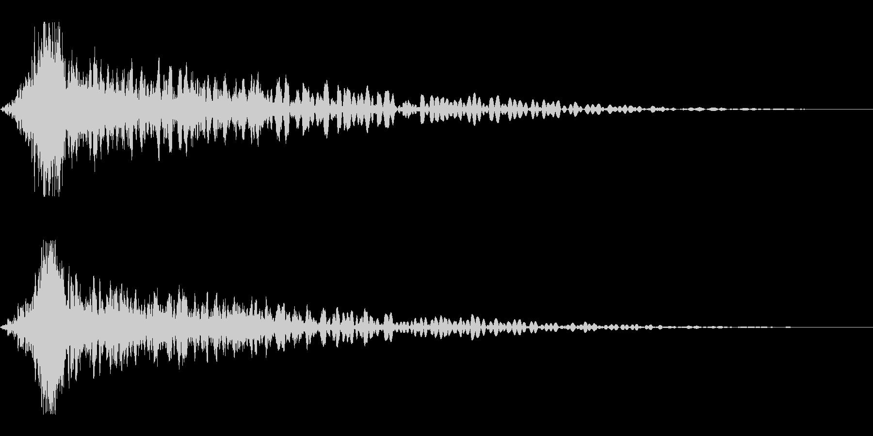 ホラー系アタック音99の未再生の波形