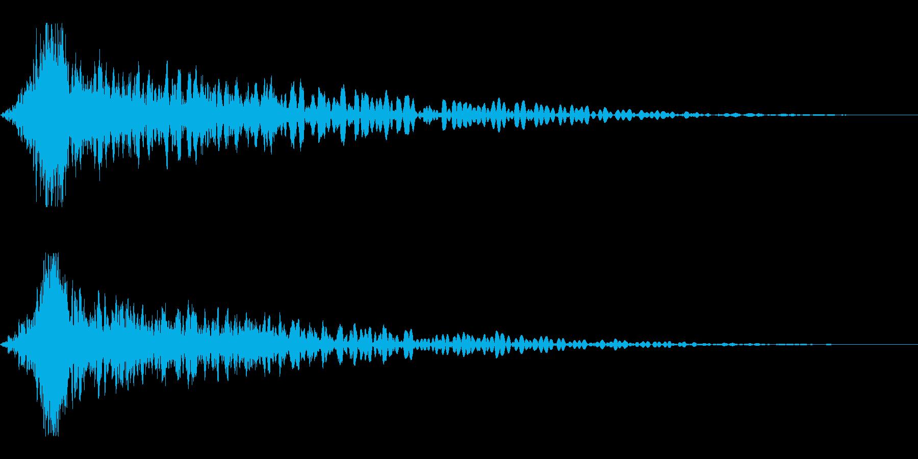 ホラー系アタック音99の再生済みの波形