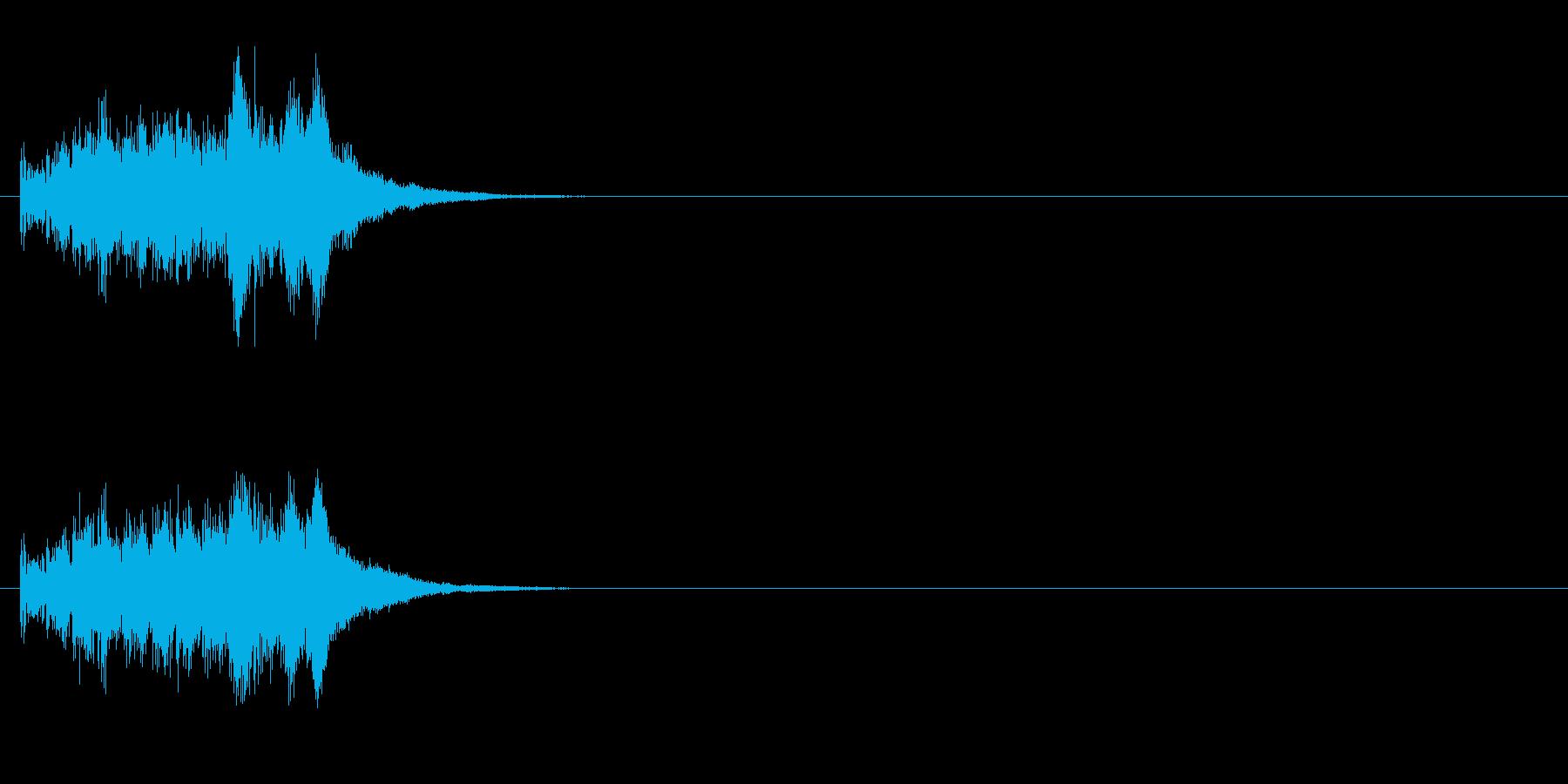ジングル(キュー・アタック風)の再生済みの波形