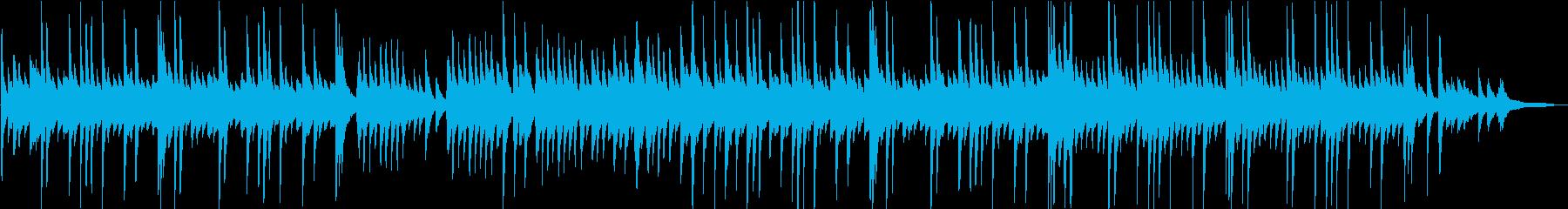 教会の少し切ない雰囲気のピアノBGMの再生済みの波形