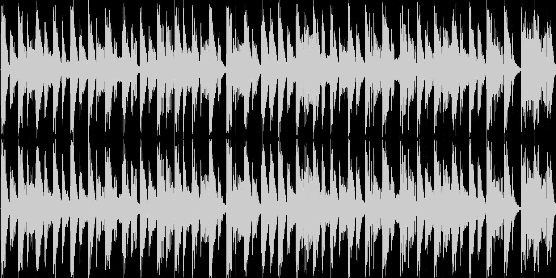 明るい雰囲気の短めのループ楽曲です。の未再生の波形
