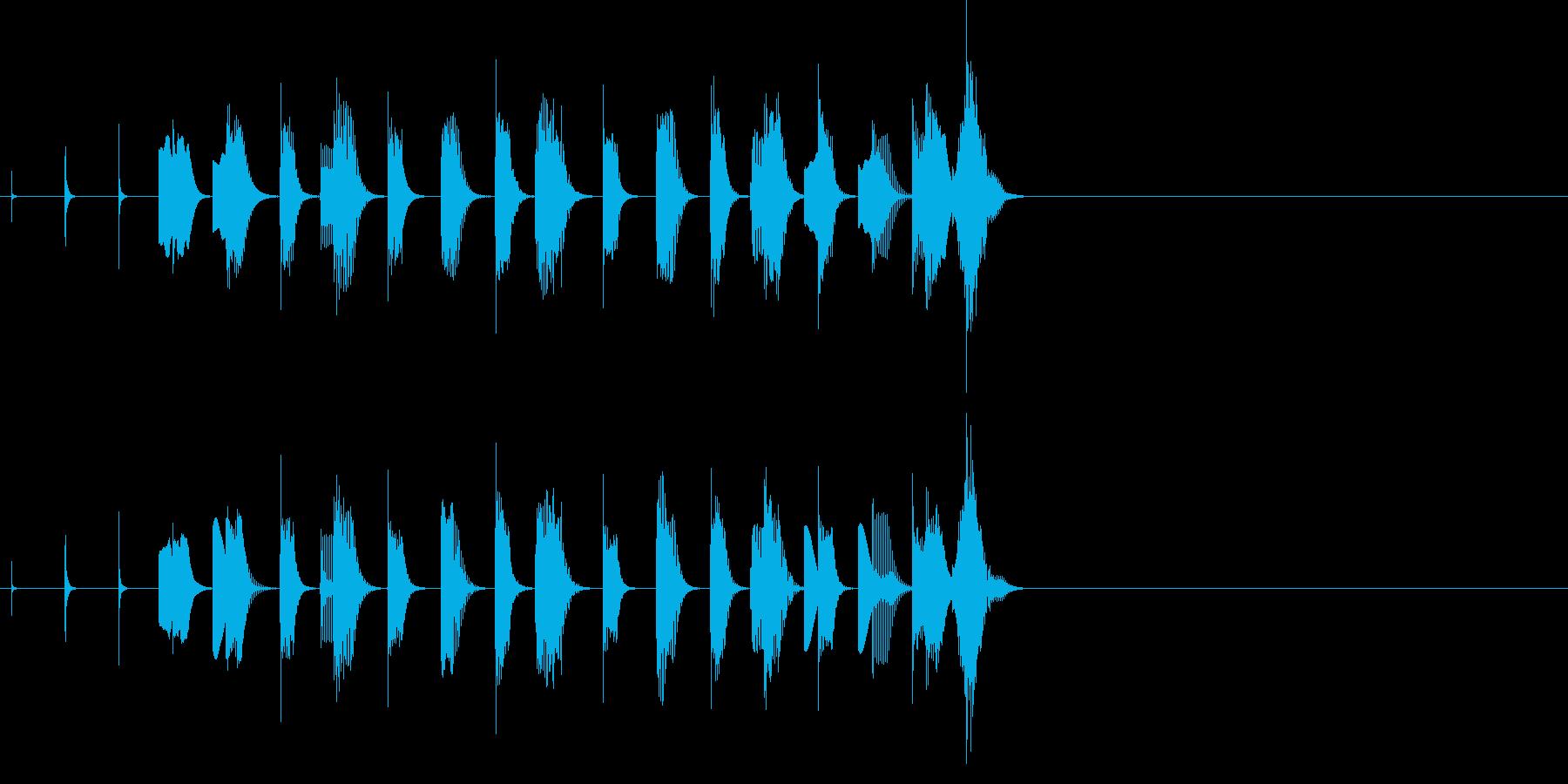 休憩 ほのぼの 動物 子供 場面転換の再生済みの波形