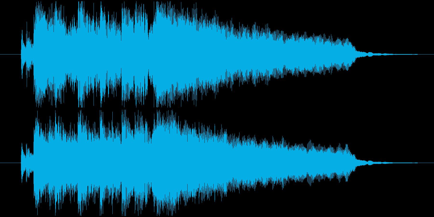 ドライブしたエレキギターのジングルの再生済みの波形