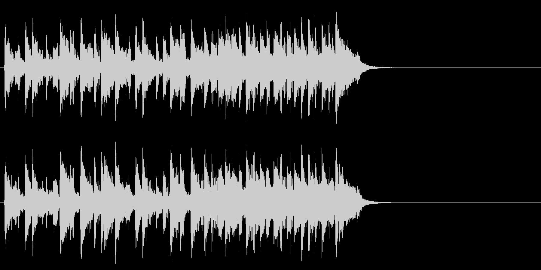 リゾート風のフュージョン(Aメロ)の未再生の波形