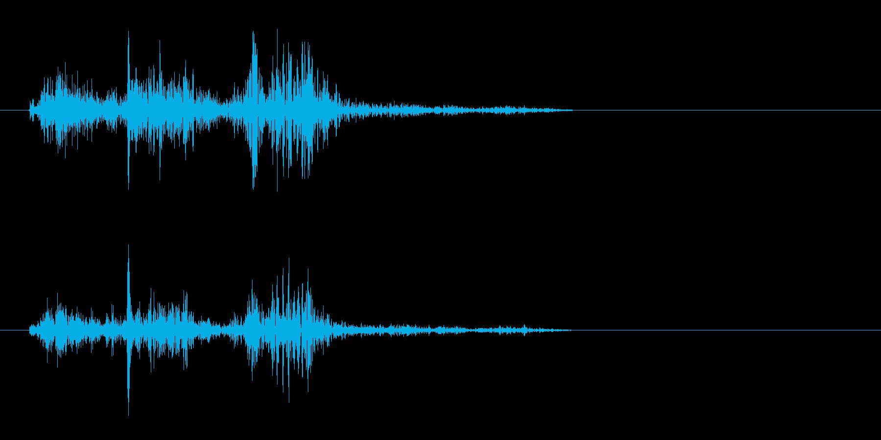 ピャッ(摩擦系 紙をめくる04)の再生済みの波形