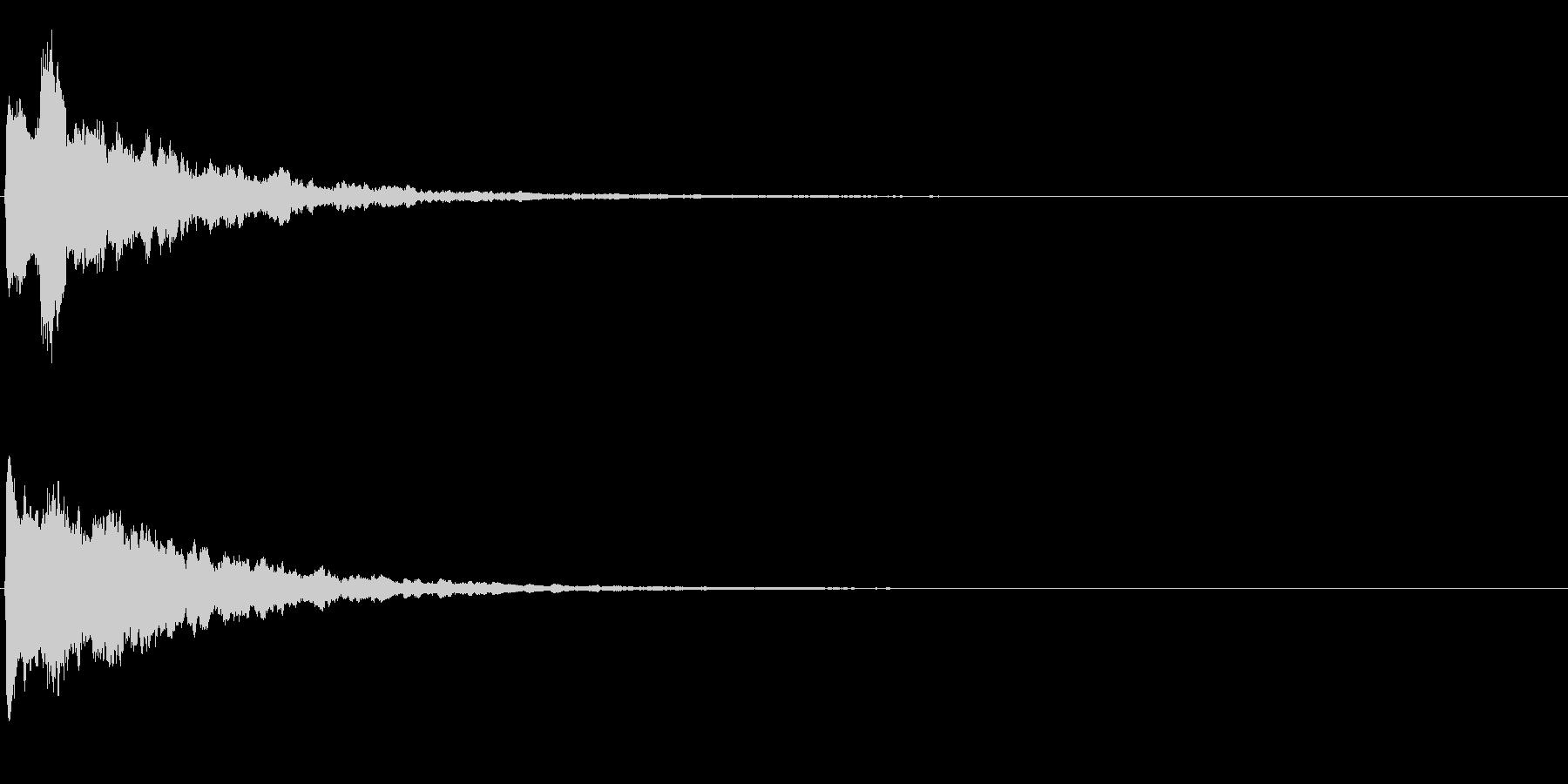 ゲームスタート、決定、ボタン音-057の未再生の波形