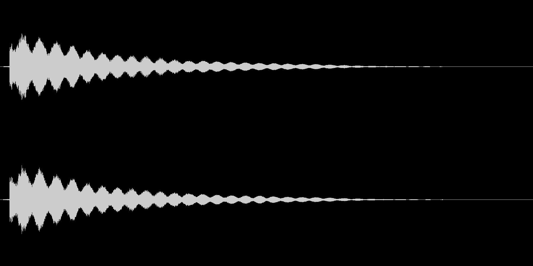 キュピーン(ひらめく、眼鏡が光る音など)の未再生の波形