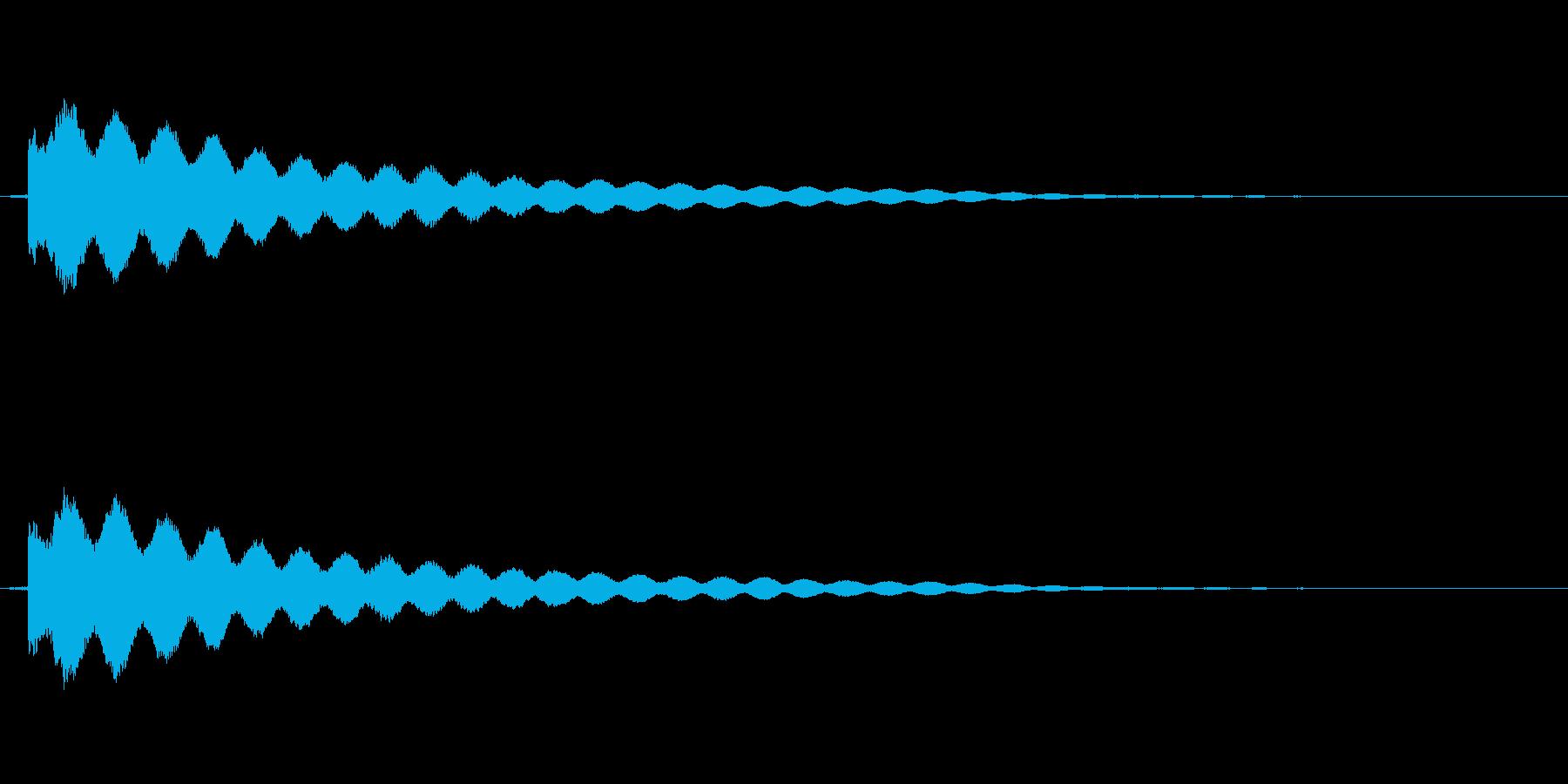 キュピーン(ひらめく、眼鏡が光る音など)の再生済みの波形