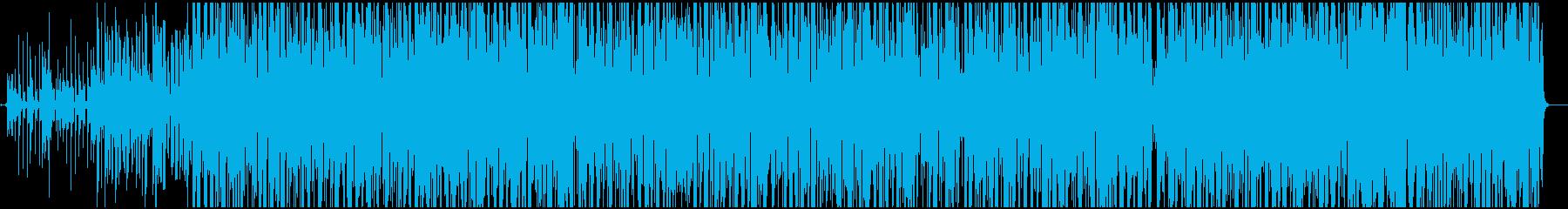 テンポの良い情熱系の再生済みの波形
