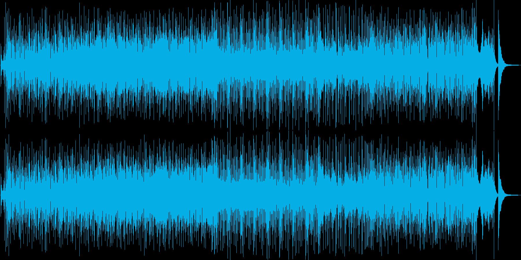 躍動するベースとローランドのシンセの再生済みの波形