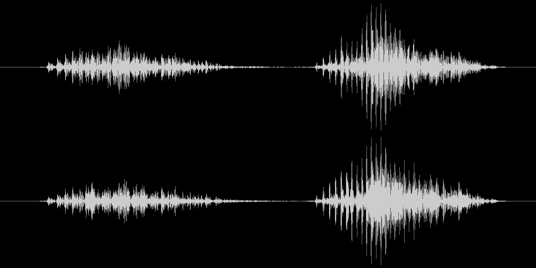 スマイルハンマー ビヨッ(軽め)の未再生の波形