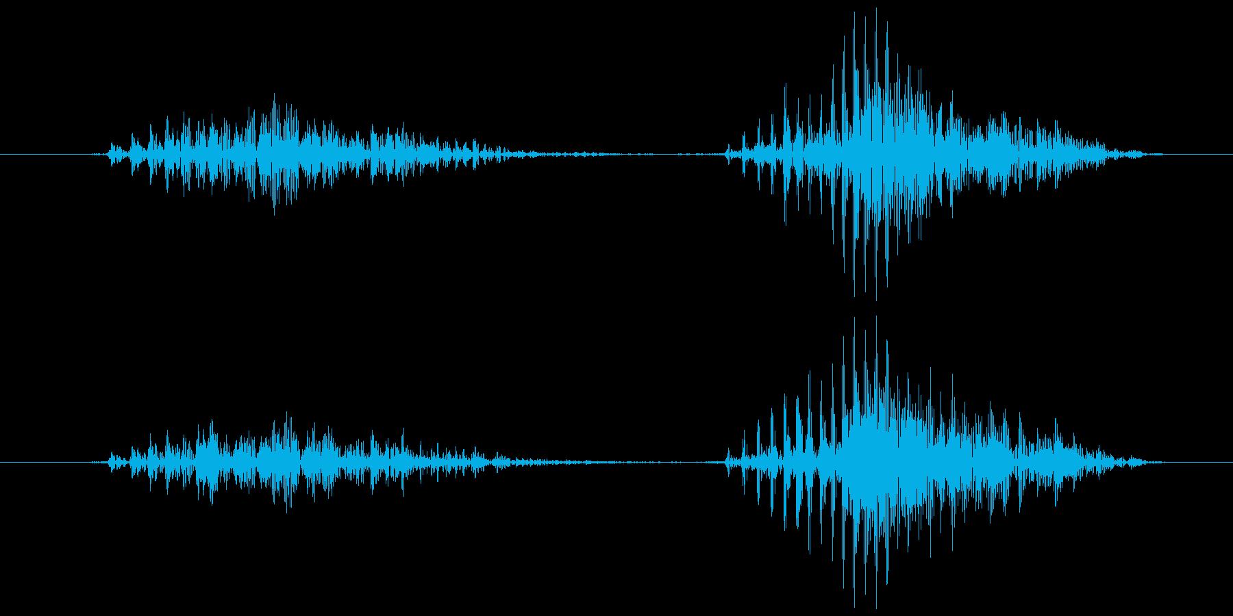 スマイルハンマー ビヨッ(軽め)の再生済みの波形
