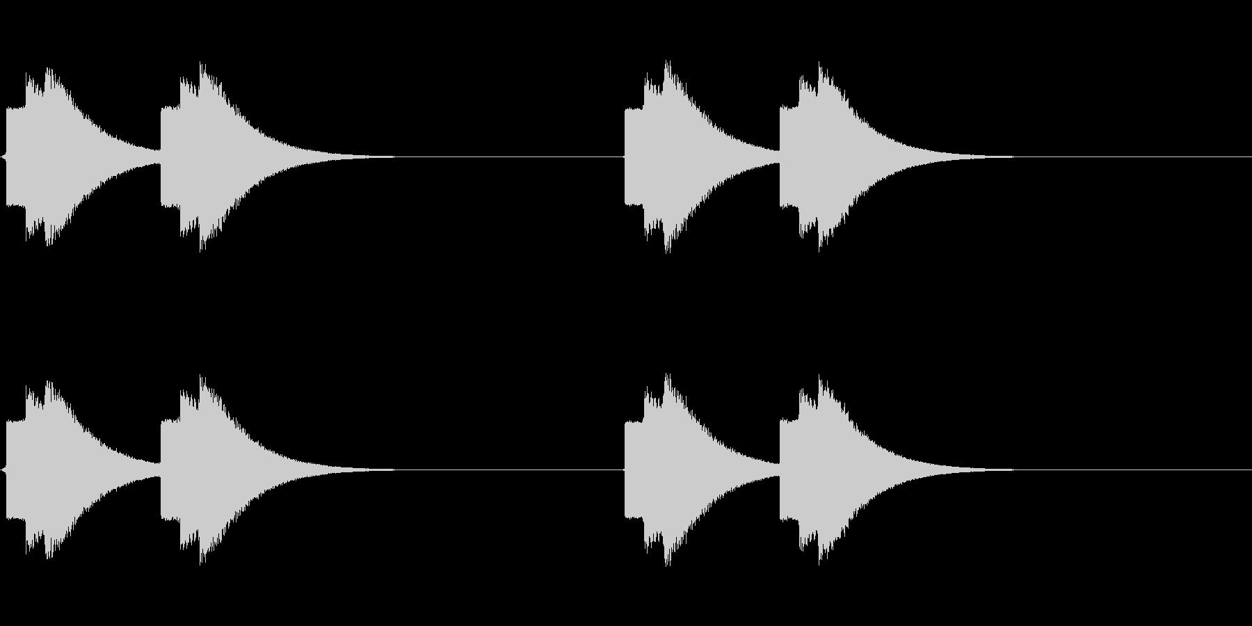 不穏な速報テロップ音(地震警報などにも)の未再生の波形