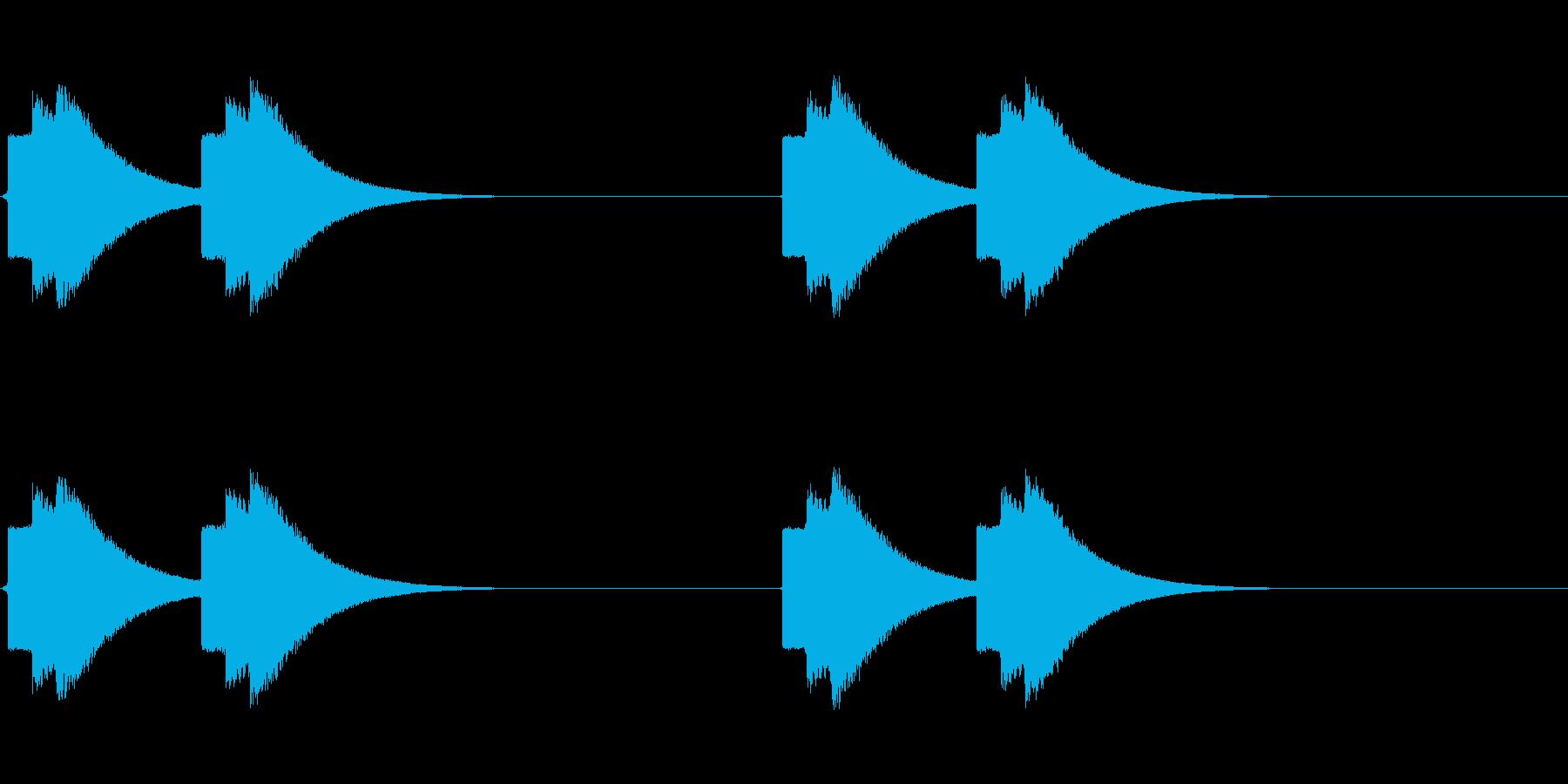 不穏な速報テロップ音(地震警報などにも)の再生済みの波形