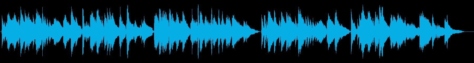 お洒落なジャズ風ソロギターBGMの再生済みの波形